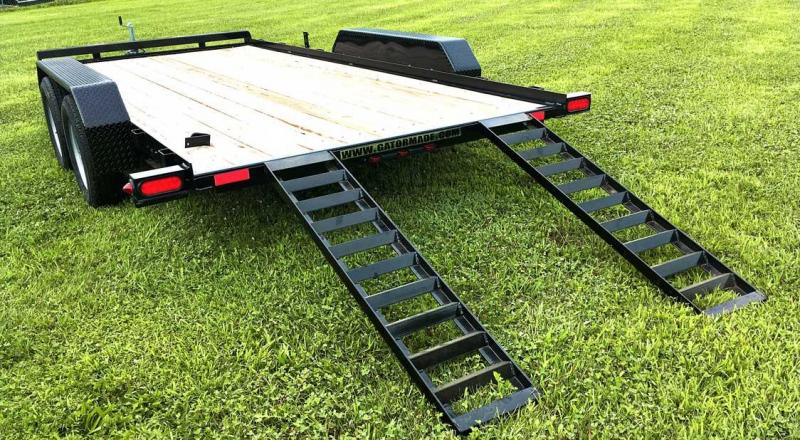 NEW 2021 Gator Made 18' Car Hauler w/ Underbody Ramps (No Dove)