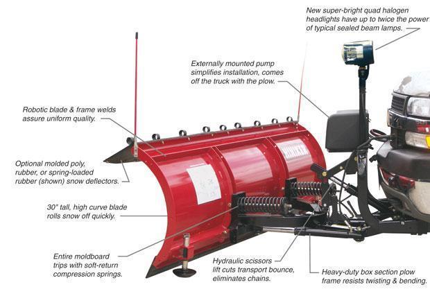 NEW Hiniker 8.5' HD Full Trip Conventional Steel Snow Plow