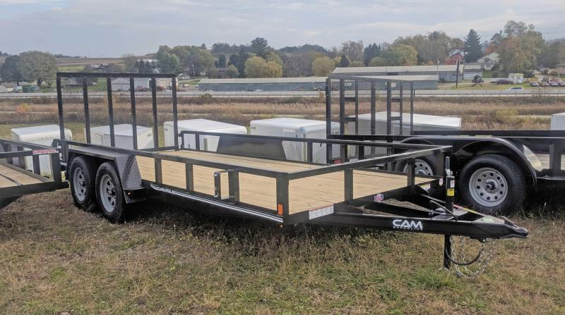NEW 2021 CAM Superline 7x16 Utility Trailer w/ Spring Assist Gate