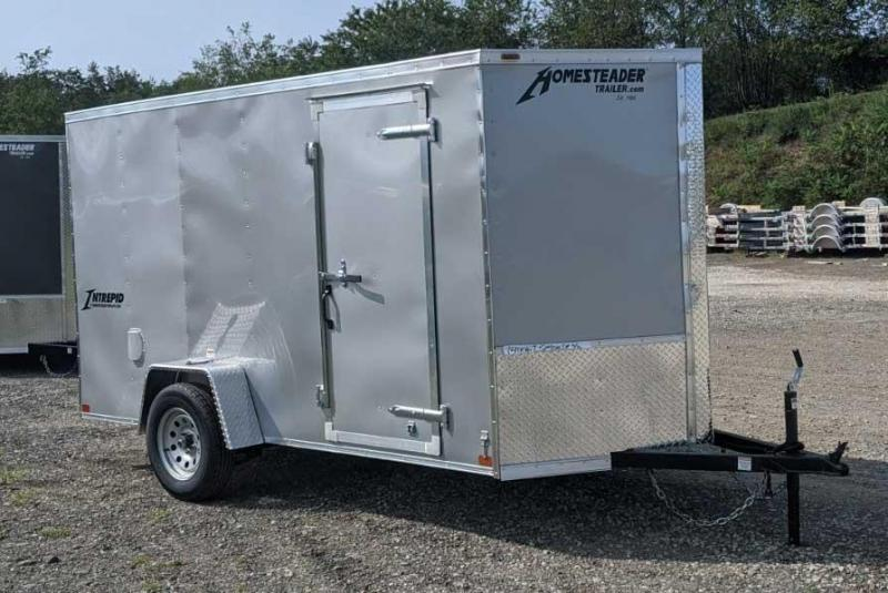 NEW 2021 Homesteader 6x14 Intrepid V-Nose Cargo w/Ramp Door