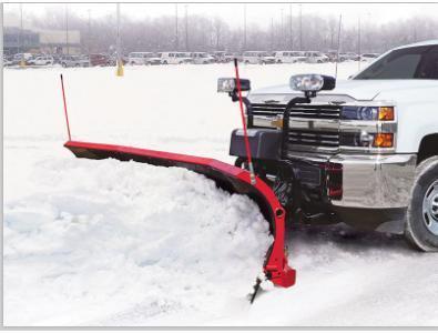 NEW HINIKER 8' POLY Trip Edge SCOOP Plow w/ Wear Bars & LED Lites