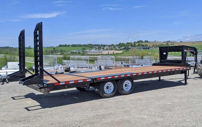 NEW 2020 BWise 19+5 Gooseneck Deckover Equipment Trailer w/ Pop Up Dove Tail