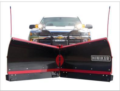 NEW HINIKER 8.5' Torsion Trip Poly V-Plow w/ Curb Guards & Wear Bars