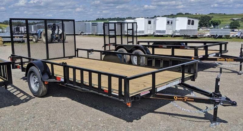 NEW 2021 Quality 7x14 General Duty Utility Trailer w/ ATV Side Ramps