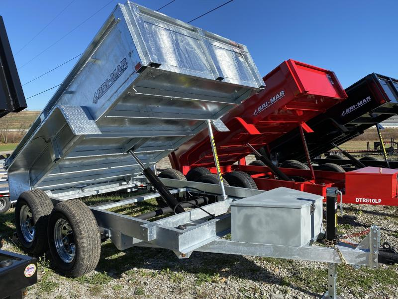 NEW 2021 Bri-Mar 6x10 Lo Pro GALVANIZED Equipment Dump w/ Combo Gate