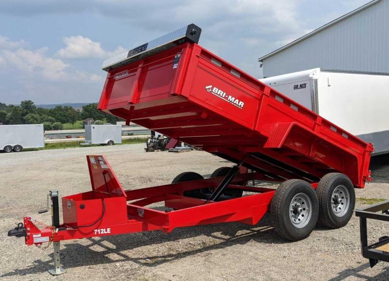 """NEW 2022 Bri-Mar 6'9"""" x 12 HD Lo Pro Equipment Dump w/ Tarp Kit"""