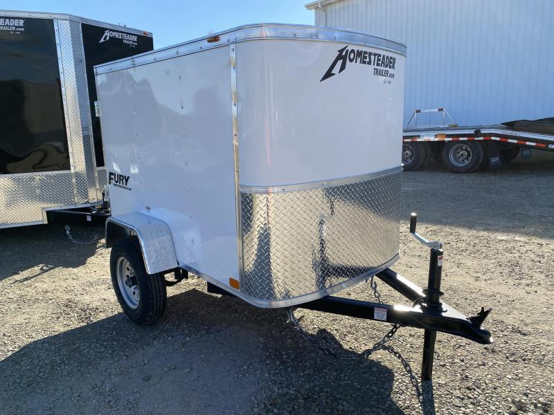 NEW 2021 Homesteader 4x6 Fury Cargo Trailer w/ Rear Barn Door