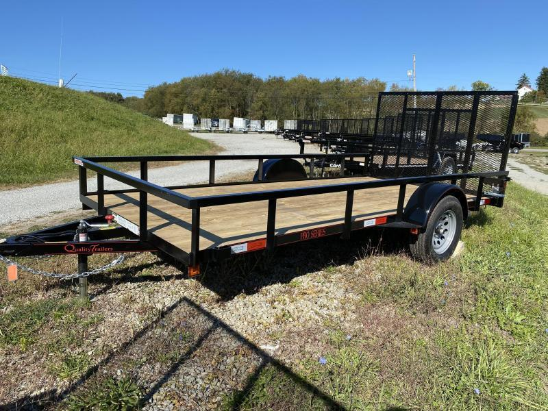 NEW 2021 Quality 7x14 PRO Utility Trailer w/ Spring Assist Gate