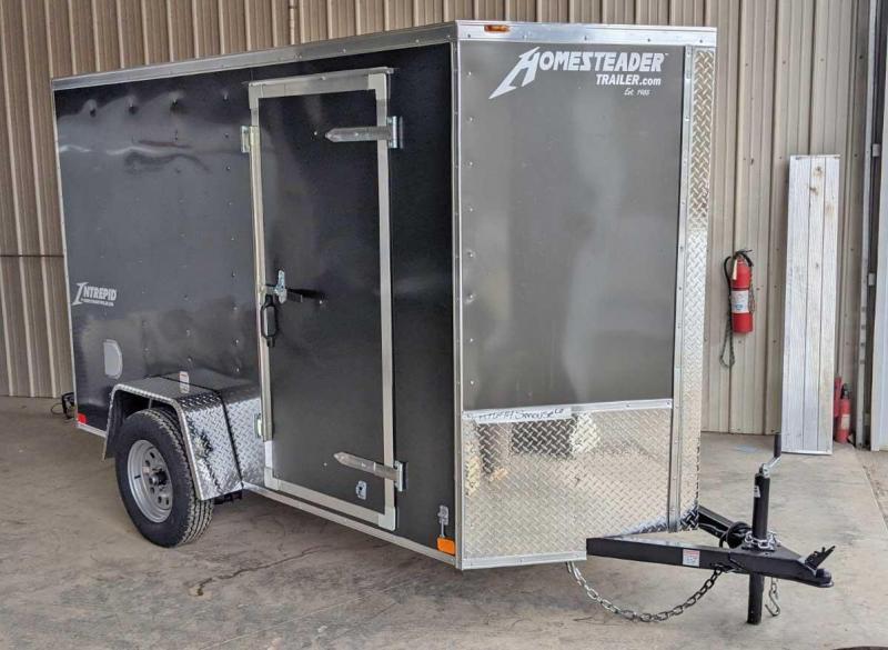 NEW 2021 Homesteader 5x10 Intrepid V-Nose Cargo Trailer w/ Ramp Door