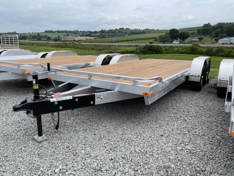 NEW 2022 Legend 18' Aluminum Open Car Hauler w/  Underbody Ramps & Aluminum Wheels