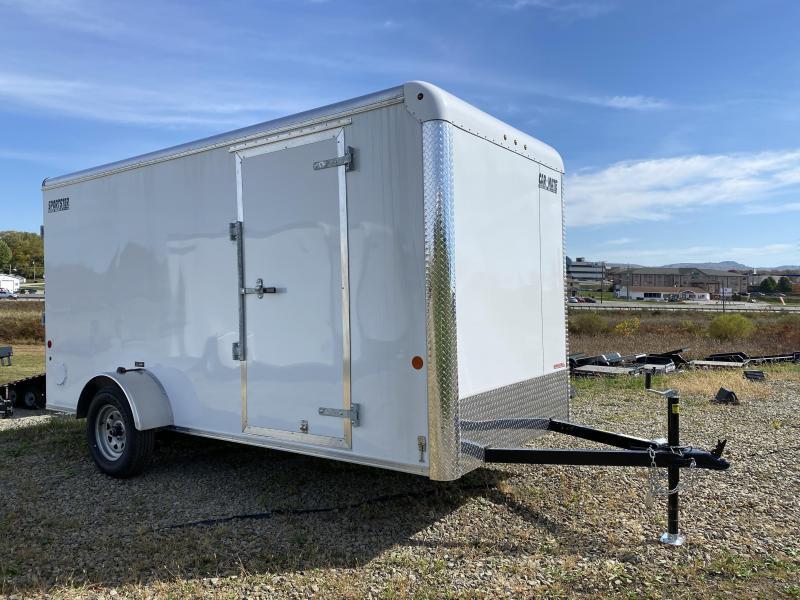 "NEW 2022 Car Mate 7x16 HD Sportster Cargo Trailer w/ Barn Doors (6"" Add'l Height)"