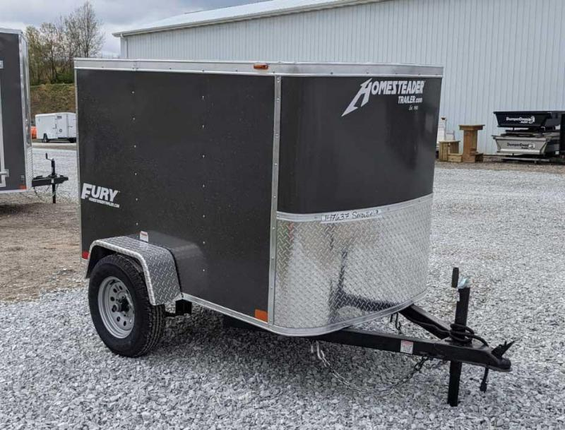 NEW 2021 Homesteader 4x6 Fury Cargo Trailer w/ Single Rear Barn Door