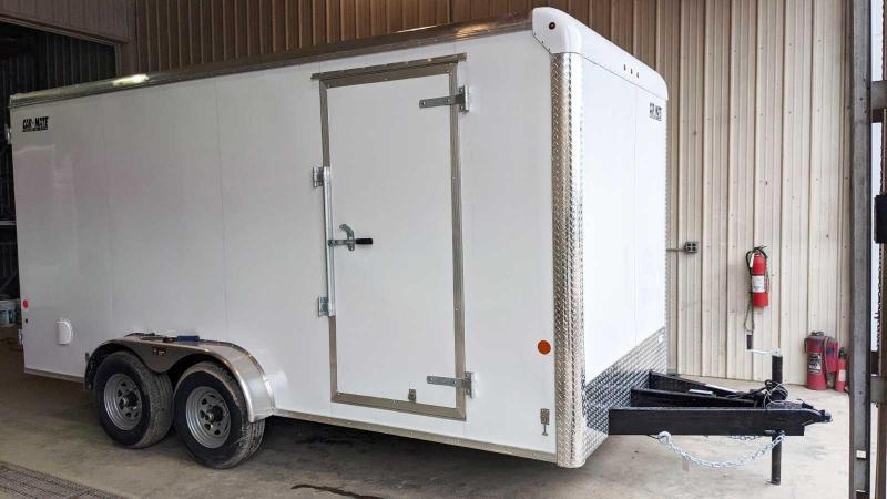 "NEW 2021 Car Mate 7x16 HD Custom Cargo Trailer w/ Rear Barn Doors (12"" Add'l Height)"