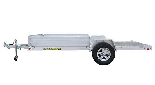 "NEW 2022 Aluma 6'9"" x 12' Utility Trailer w/ Side Ramps"