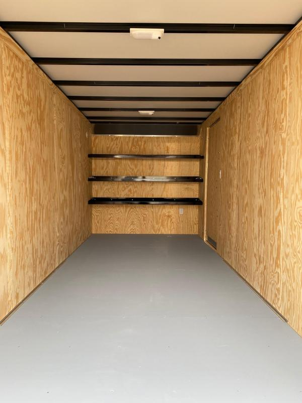 NEW 2020 Car Mate 7x18 HD Contractor Cargo Trailer w/ Rear Barn Doors (Extended Height & Heavier Axles)