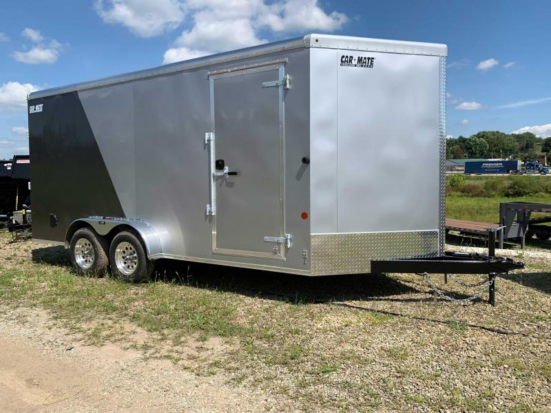 "NEW 2020 Car Mate 7x16 HD Advantage V-Nose Cargo Trailer w/ Rear Ramp Door & 12"" Add'l Hght"