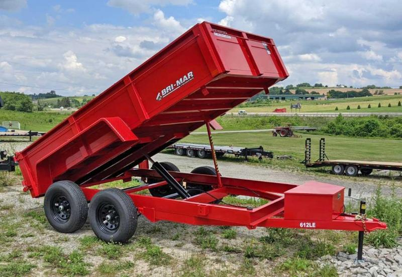 NEW 2022 Bri-Mar 6x12 Lo Pro Equipment Dump Trailer
