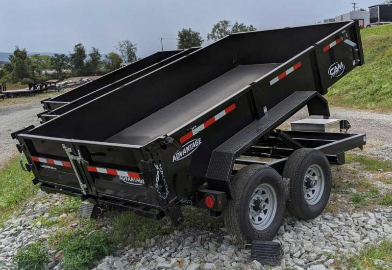 NEW 2021 CAM SUPERLINE Advantage 6 8 x 12 HD Lo Pro Equipment Dump w Underbody Ramps