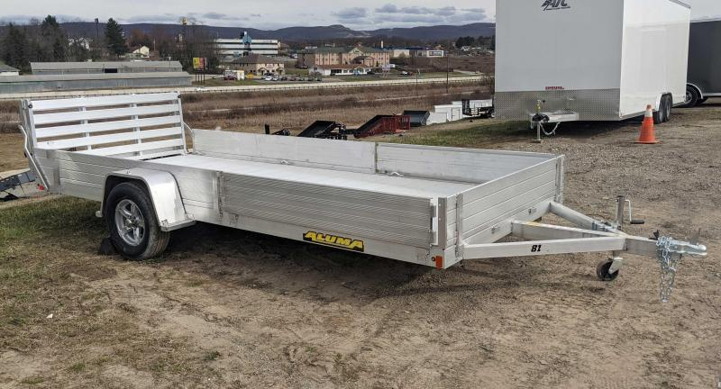 "NEW 2022 Aluma 6'9"" x 14 SR Utility Trailer w/ Side Ramps/Solid Rear Sides & Bi-Fold Gate (Early May Arrival)"