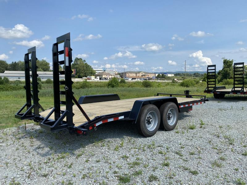 NEW 2022 Quality 18' HD PRO Equipment Hauler w/ Spring Assist Stand Up Ramps, 2' Dove Tail