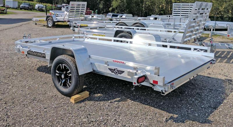 "NEW 2021 Aluma 6'5"" x 12 HD Utility w/ Slide Out Ramp"