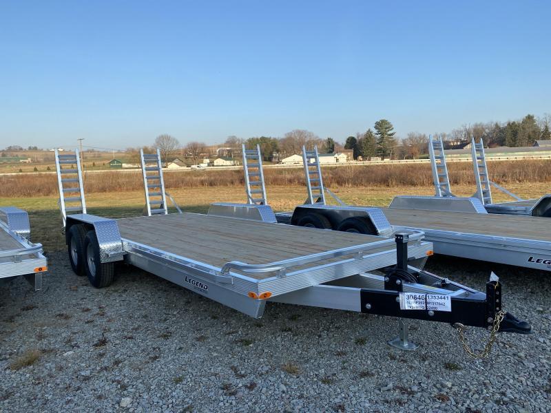 NEW 2021 Legend 20' Lo Pro Aluminum Equipment Hauler w/ Wood Deck