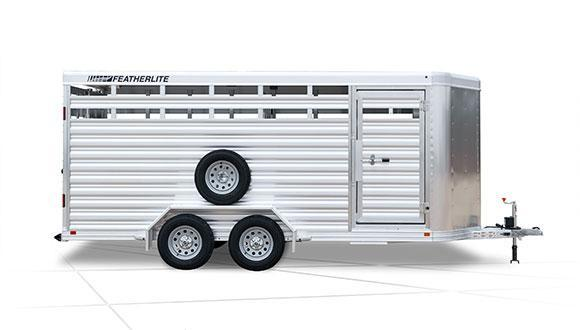 NEW 2021 FEATHERLITE 18' Aluminum Tagalong Stock Trailer with Aluminum Floor 7' HIGH