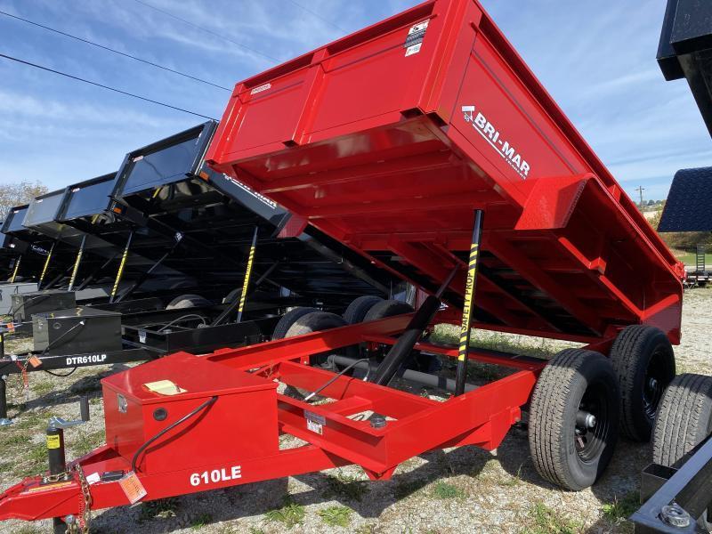 NEW 2022 Bri-Mar 6x10 Lo Pro Equipment Dump Trailer