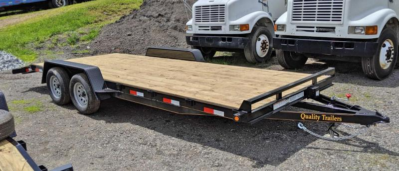 NEW 2020 Quality 18' HD General Duty Car Hauler w/ 5' Underbody Ramps