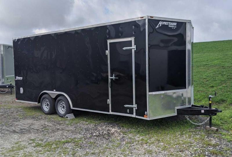 NEW 2021 Homesteader 8.5 x 20 Intrepid V-Nose Car Hauler w/ Ramp Door