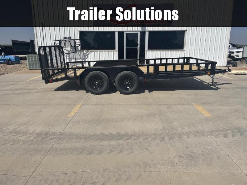 "2022 PJ 16'x 83"" Tndm Axle Channel Utility Trailer"