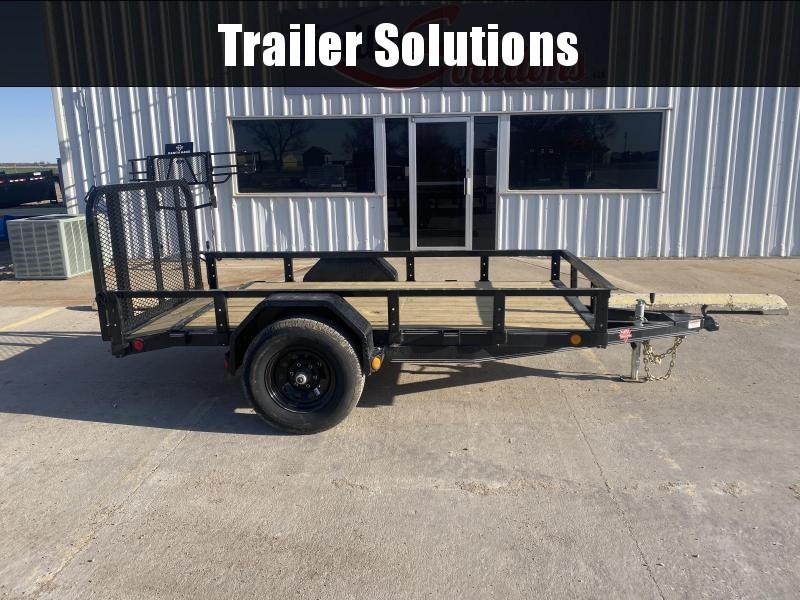 """2022 PJ 10' x 60"""" Single Axle Channel Utility Trailers"""