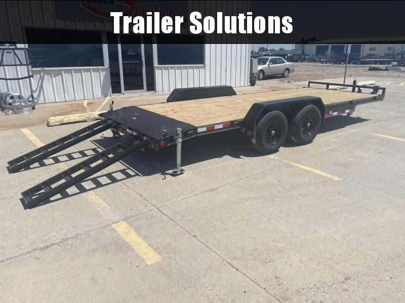 "2021 PJ 18' x 5"" Channel Equipment Trailer"