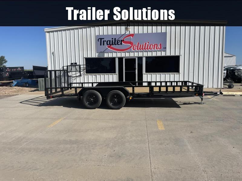 "2022 PJ 18' x 83"" Tndm Axle Channel Utility Trailer"