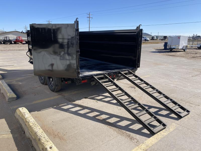 "2021 PJ 14' x 83"" Low Pro High Side Dump Trailer"