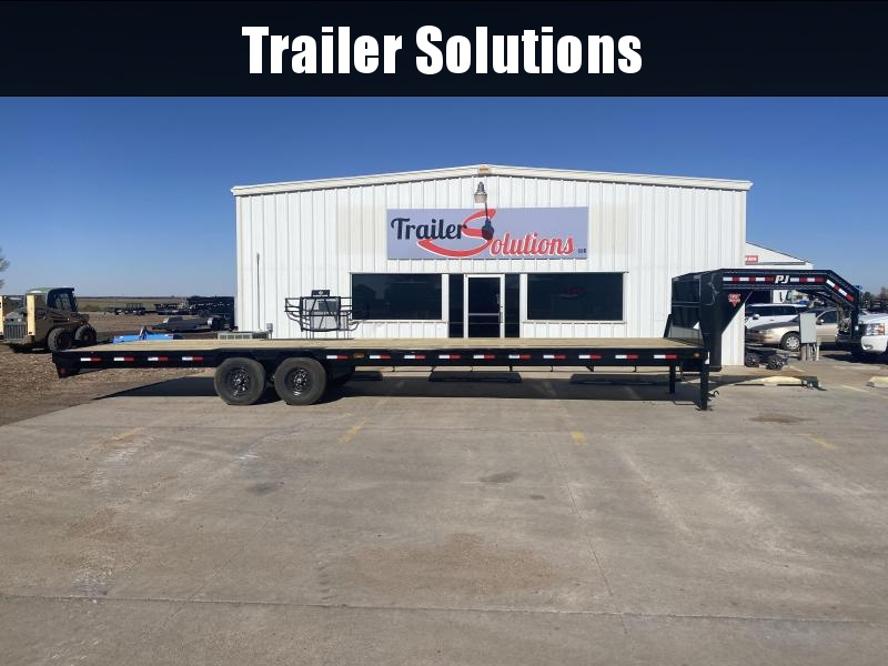 2021 PJ 32' Low Pro Flatdeck with Singles Trailer