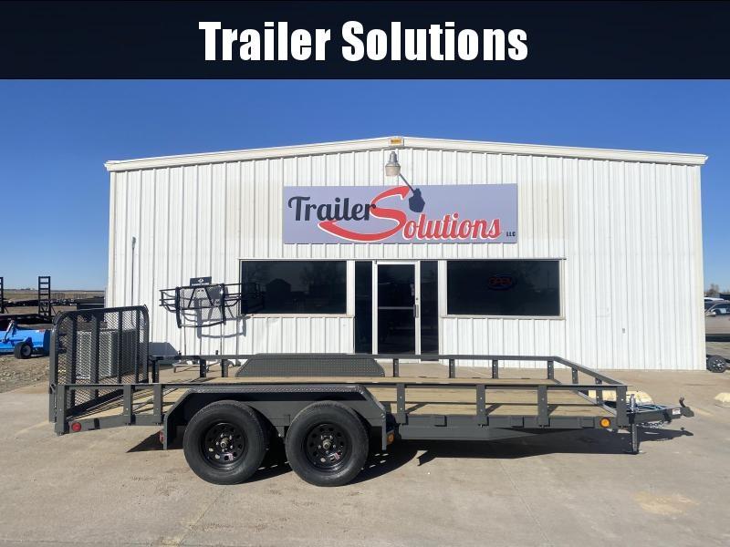 "2021 PJ 16' x 77"" Tandem Axle Channel Utility Trailer"