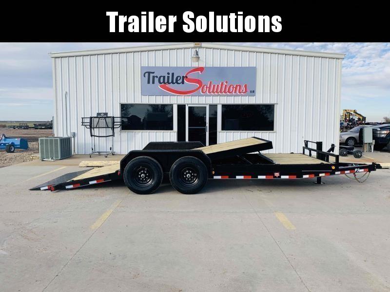 "PJ Trailers 20' x 83"" Channel Equipment Tilt Trailer"
