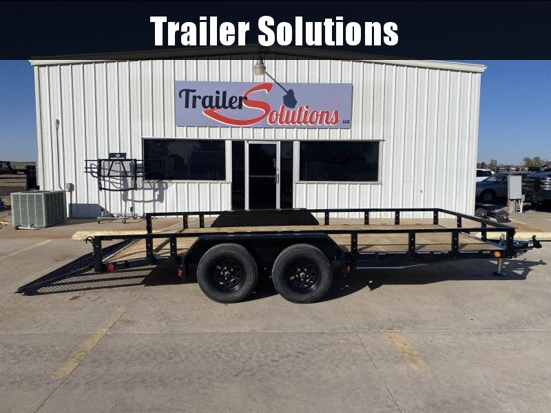 "2021 PJ 16' 83"" Tandem Axle Channel Utility Trailer"