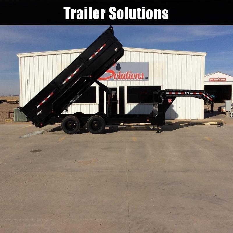 """2021 PJ 16' x 83"""" HD Low Pro Dump Trailer"""