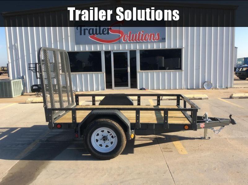 """2020 PJ 8' x 60"""" Single Axle Channel Utility Trailer"""