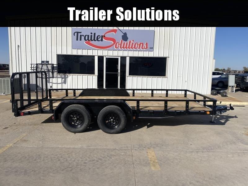 "2021 PJ 16' x 83"" Tandem Axle Channel Utility Trailer"