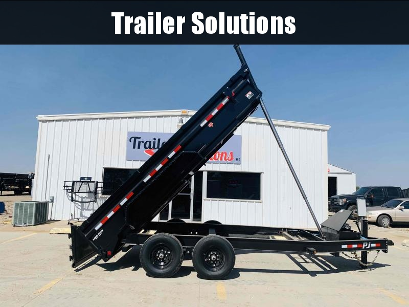 "2021 PJ 14' x 83"" Low Pro Telescopic Dump Trailer"