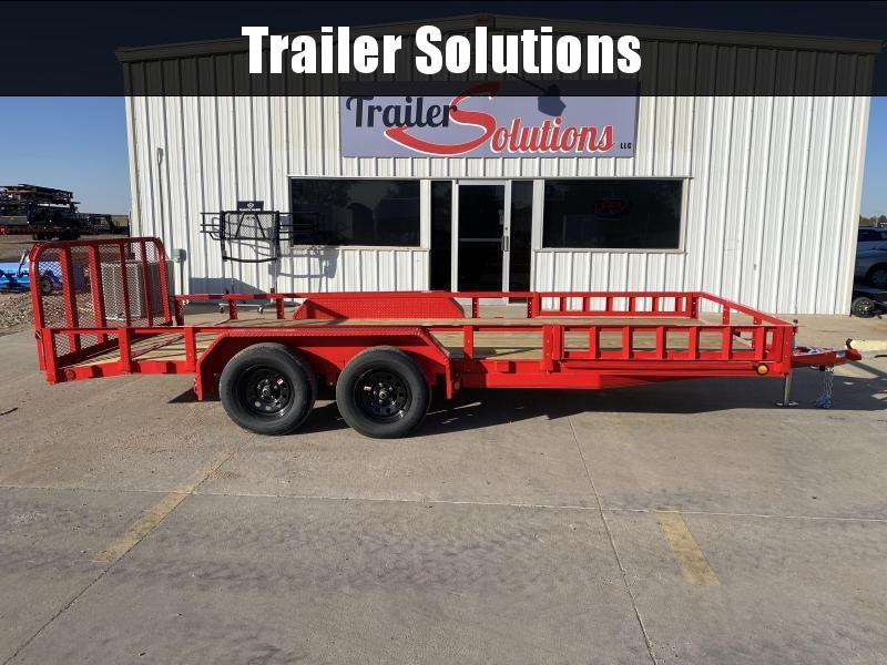 "2021 PJ 18' x 83"" Tandem Axle Channel Utility Trailer"