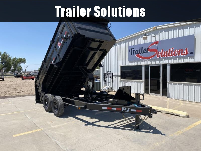 "2021 PJ14' x 83"" Low Pro High Side Dump Trailer"