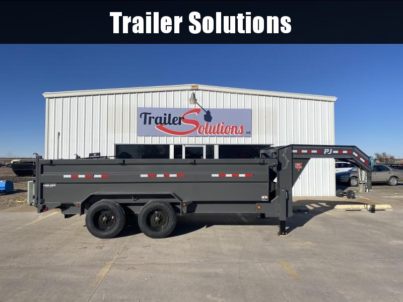 2021 PJ 16' HD Low Pro Dump Trailer