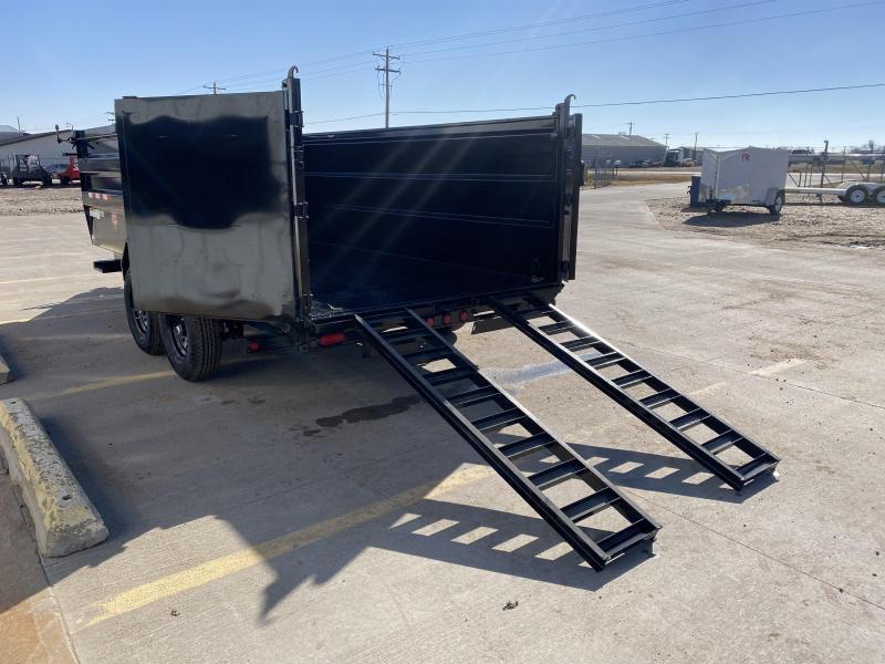 """2021 PJ 16' x 83"""" Low Pro High Side Dump Trailer"""