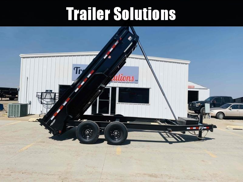 "2022 PJ 14' x 83"" Low Pro Telescopic Dump Trailer"