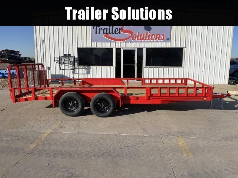 "2022 PJ 18' x 83"" Tndm Axle Channel Utility Trailer (UL)"
