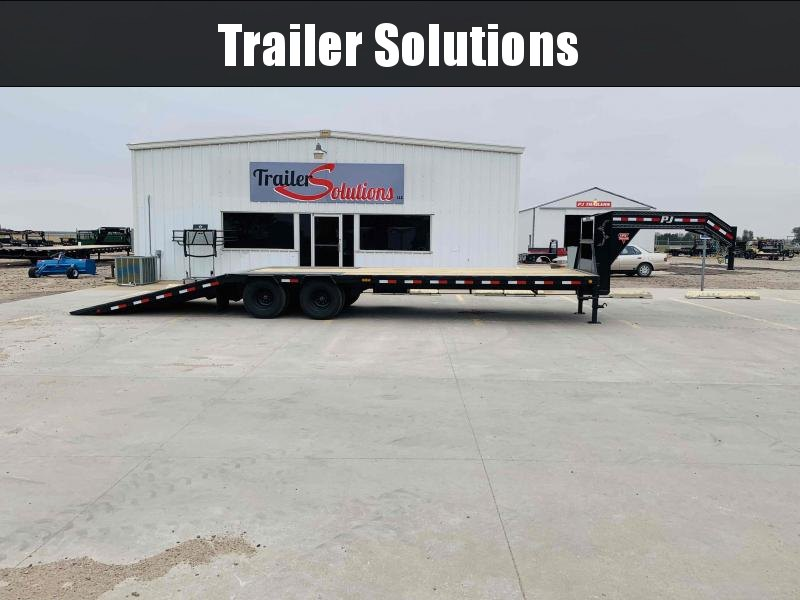 2021 PJ 32' Low Pro with Hydraulic Dove Trailer